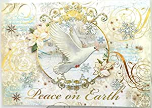 Punch Studio Seasons Tweeting Dimensional Holiday Boxed Cards Featuring 12 Embellished Cards and Envelopes 45427