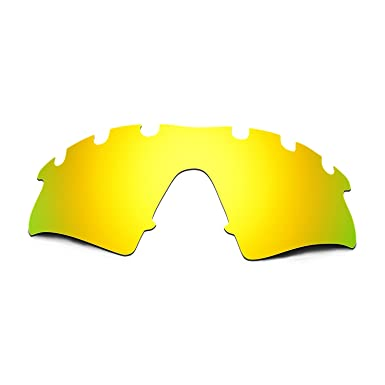 HKUCO Mens Replacement Lenses For Oakley Flak 2.0 Vented 24K Gold/Emerald Green Sunglasses 6OfZ9AAU