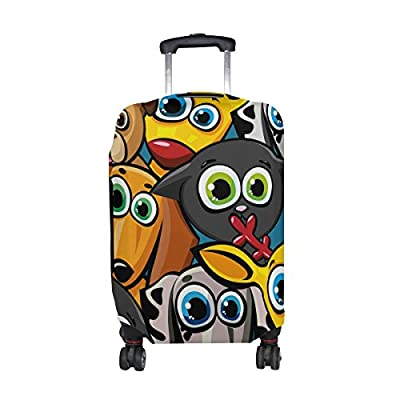 Travel Luggage Covers fit most 18-32 inch,Printing Suitcase Protector Spandex and polyester Protectors Color : Picture2 , Size : M-200g