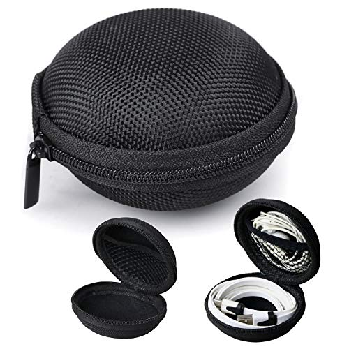Black Earphone, Headphone Protective Hard Case, Storage Box, Carrying Pouch for FLOVEME