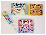 Peeps Marshmallow Easter Bundle, 1 Party Cake (3oz), 1 Cotton Candy, (3oz) 1 Pancake & Syrup (3oz) and 1 Rainbow Pop Stick