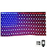 Russell Decor Patriotic Decor Memorial Day USA Flag Net Lights Independence Day 4th of July Stars and Stripes