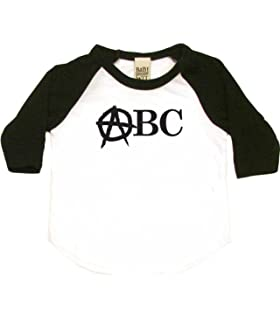 Anarchy Abcs Punk Rock Toddler Clothes Cute Boy Or Girl T-Shirts Baby Gift