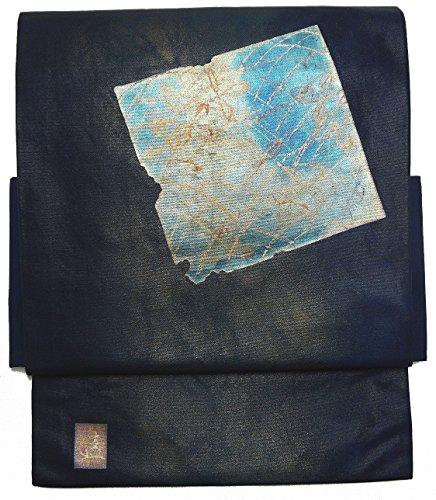 島放置想定する(桜楓) 和裁士が作った本格 二部式 正絹 作り帯 名古屋帯 つくり帯 軽装帯 ワンタッチ帯 LL 2L 3L 4L 5L 0026 tied obi divided into two