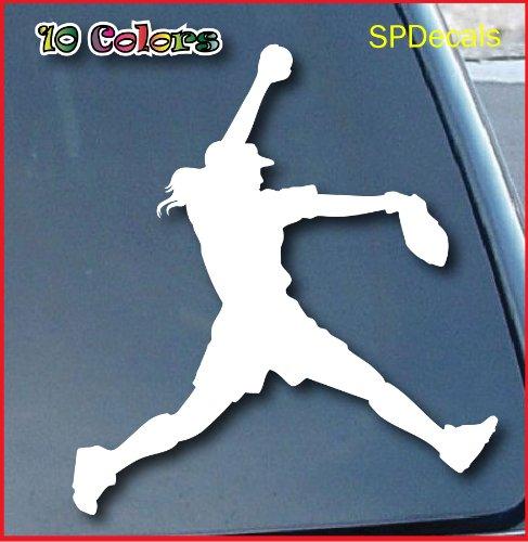 Softball Pitcher Car Window Vinyl Decal Sticker 5