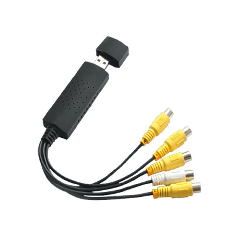 Caxico EasyCap Model 002 - 4 Channel USB 2.0 DVR Video Audio CCTV Capture Adapter