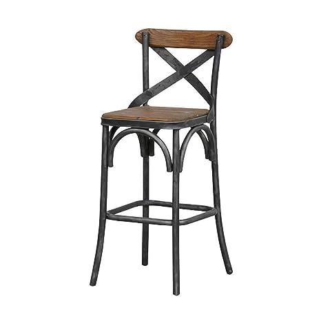 Tremendous Amazon Com Lldmz Bar Stools High Stool Metal Wooden Seat Ibusinesslaw Wood Chair Design Ideas Ibusinesslaworg