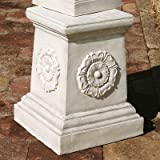 Design Toscano English Rosette Garden Sculptural Plinth - Grand