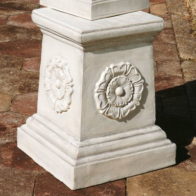 Design Toscano English Rosette Garden Sculptural Plinth - Grand by Design Toscano
