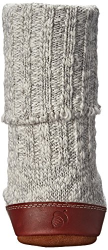 Pour Gris Chaussons Ragg Femme Acorn us Grey Wool Frauen F8fqxd5wn