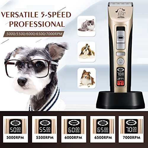 Professional-5-Speed-Pet-Grooming-Clippers-Heavy-Duty-Pet-Clippers-for-Thick-Coats-Dogs-Cats-Horse-Dog-Clippers-With-LED-Screen-Indication-Intelligent-Protection