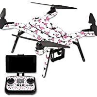 MightySkins Protective Vinyl Skin Decal for 3DR Solo Drone Quadcopter wrap cover sticker skins Cool Flamingo