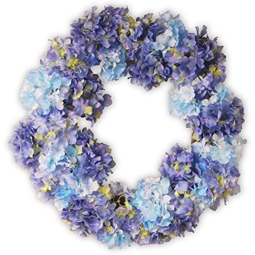 National Tree 25 Inch Hydrangea Wreath - Hydrangea Wreath