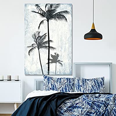 Incredible Expertise, Tropical Palm Trees on Rustic Background, Created By a Professional Artist