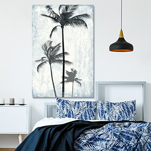 Tropical Palm Trees on Rustic Background Gallery