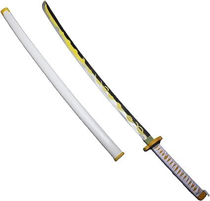 Kimetsu No Yaiba Agatsuma Zenitsu Sword PVC Handhelds Prop 105cm Demon Slayer
