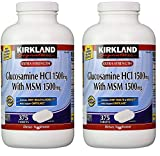 Kirkland Signature Extra Strength Glucosamine HCI 1500mg, With MSM 1500 mg, 375 Count (2 Pack)