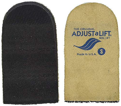 Adjust A Heel Lift, Small (Pack of 2) Adjustable Orthopedic Heel Lift (Shoe Inserts) for Heel Pain and Leg Discrepancy, Unisex, by Fladora