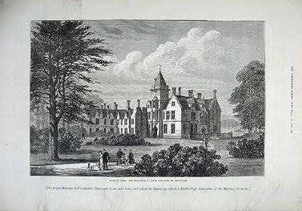 Amazon Com Old Print Print 1879 Bagshot Park Mansion House Duke