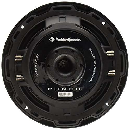 Rockford Fosgate P3SD2-8 8'' Dual 2-Ohm Punch Series Shallow Mount Car Subwoofer by Rockford Fosgate (Image #1)