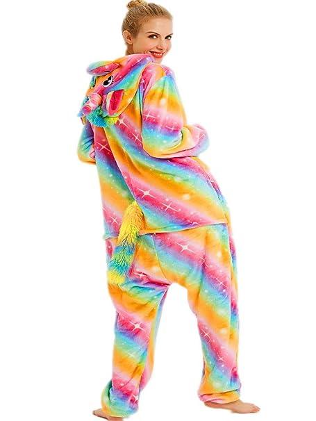 Amazon.com: qqonsie Pijama de unicornio para adultos, para ...