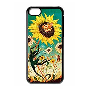 Laugh Face Sunflower logo hard back case for iPhone 5C