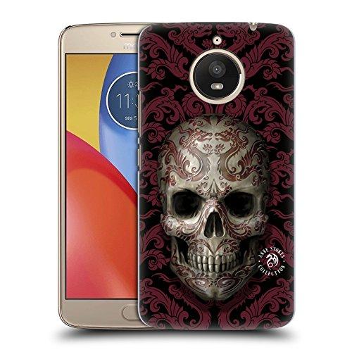 Skull Pattern Hard Case (Official Anne Stokes Dragon Swirl Pattern Oriental Skull Hard Back Case for Motorola Moto E4 Plus)