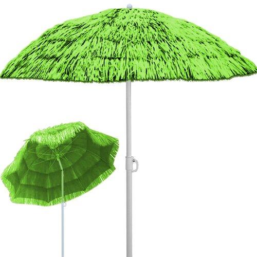 Sonnenschirm Hawaii Sonnenschutz Ø 160 cm Gartenschirm Neigefunktion Höhenverstellbar - Grün