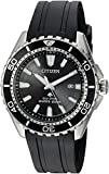 Citizen Men's 'Eco-Drive' Quartz Stainless Steel and Polyurethane Diving Watch, Color:Black (Model: BN0190-07E)