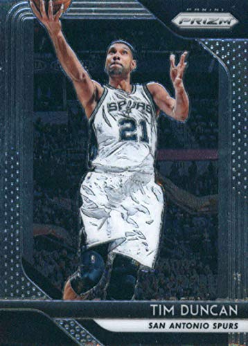 (2018-19 Prizm Basketball #225 Tim Duncan San Antonio Spurs Official NBA Trading Card From Panini)