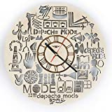 Depeche Mode Wood Wall Clock - Original Home Decor for Living Room Bedroom Kitchen - Best Gift Idea for Father Friends Neighbour Boys and Girls - Unique Wall Art Design - Size 12""
