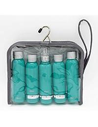 Travel Bottles Set Aluminum Bottle Set TSA Approved (Green)