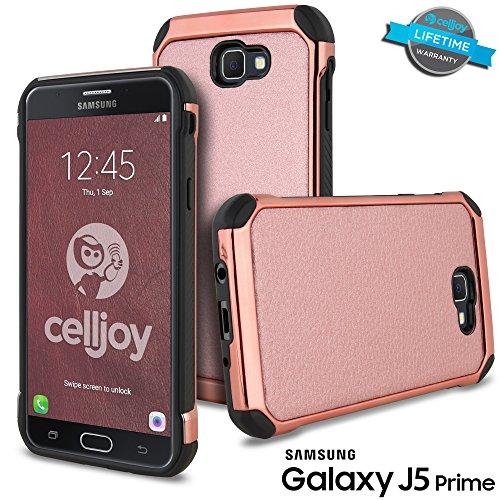 Shockproof Hybrid Case for Samsung Galaxy J5 (Black/Rose Gold) - 4