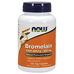 NOW Supplements, Bromelain (Natural Prot...