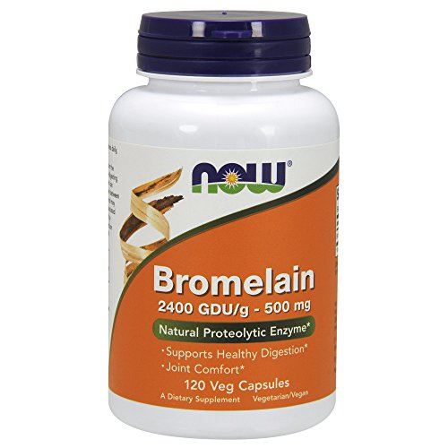 NOW Bromelain 500 mg,120 Veg Capsules