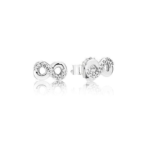 stili diversi quantità limitata moda di vendita caldo Pandora Orecchini a perno Donna argento - 290695CZ