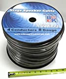 Blast King IRS1X4X8-150 150-Feet Stage Speaker Cable 8 Gauge 4 Cond Single Jacket