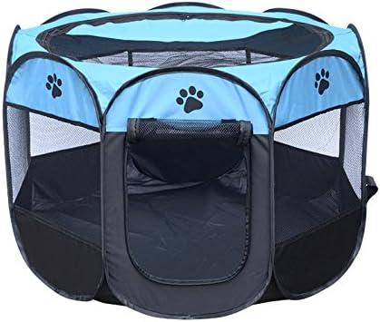 Nrpfell Portable Pliant Animaux de Compagnie Tente Chien Maison Cage Chien Chat Tente Parc Chiot chenil Operation Facile octogonale Cloture #B