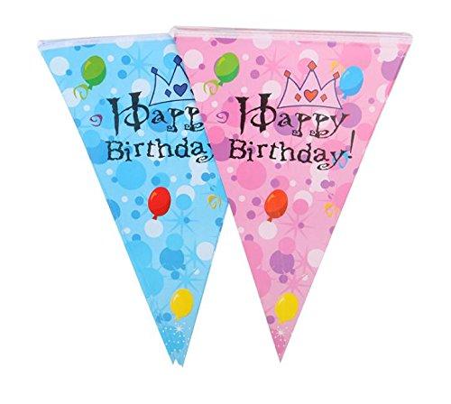 Sun Glower Celebrando la Decoración del Cumpleaños del bebé con Globos y Corona Patten Triangle Flags_Pink: Amazon.es: Juguetes y juegos