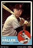 #10: 1963 Topps # 85 Tom Haller San Francisco Giants (Baseball Card) Dean's Cards 2 - GOOD Giants