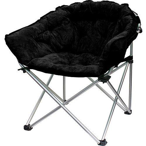 Plush Ultrasuede Club Chair ~ Black Stardust