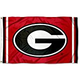 College Flags and Banners Co. Georgia Bulldogs Red Jersey Stripe G Flag