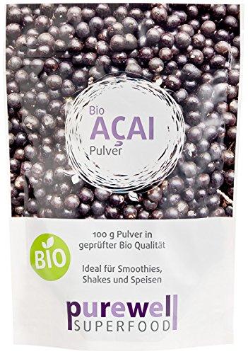 ACAI Pulver - Bio Superfood - Für natürliche Schönheit & Schlankheit & Gesundheit (100g Acaipulver - BIO Acai Beerenpulver) - MHD 03.12.2016