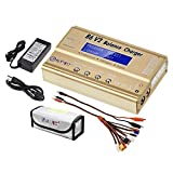 LiPo Charger Balance Discharger 1S-6S Digital Battery Pack Charger for NiMH/NiCD/Li-Fe Packs w/LCD Display Hobby Battery Charger w/Tamiya/JST/EC3/HiTec/Deans Connectors + Power Supply