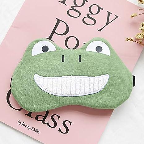 Dibujos animados Harajuku parodia algodón relleno de hielo almuerzo almuerzo sombra sombreado personalidad creativa felpa estudiante linda máscara de ojos rana verde