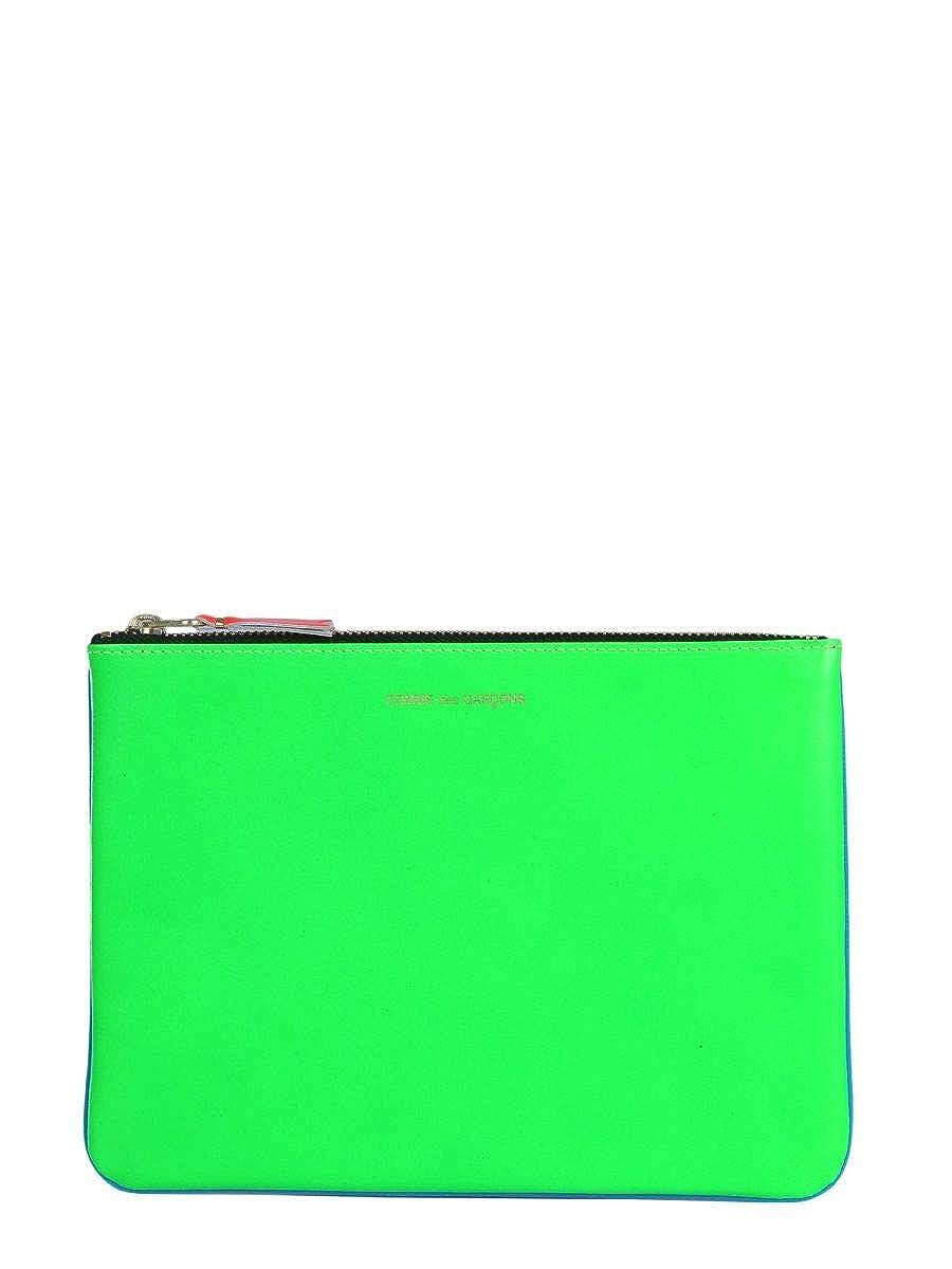 Comme Des Gar/çons Mens SA5100SFGREEN Blue//Green Leather Wallet