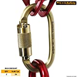 KwikSafety ANNEX | KS-N-244G Steel Carabiner | Heavy Duty Yoke Twist Lock Gate | 30 kN Min. Breaking Load 16 kN Gate Strength | ANSI Certified | Multifunctional Construction Fall Protection Tool
