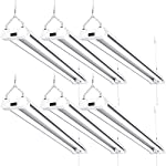 Sunco Lighting 6 Pack LED Utility Shop Light