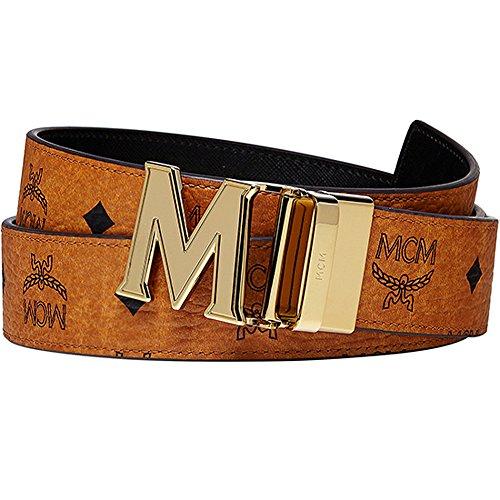 100% Authentic MCM Visetos PETAL Reversible Gold M Buckle