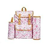 Laura Ashley Multi Piece Florar Backpack Diaper Bag